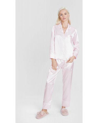 Пижамная сатиновая розовая пижама Ostin