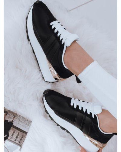 Czarne sneakersy skorzane eleganckie Dstreet