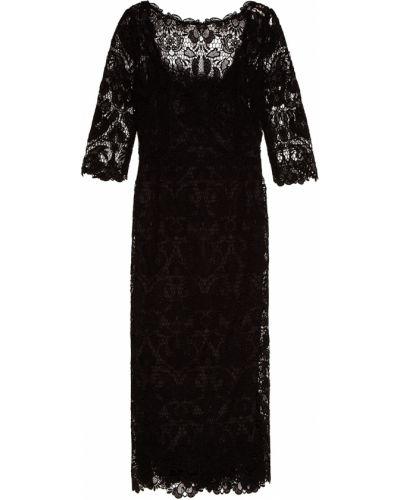 Платье миди футляр льняное Dolce&gabbana