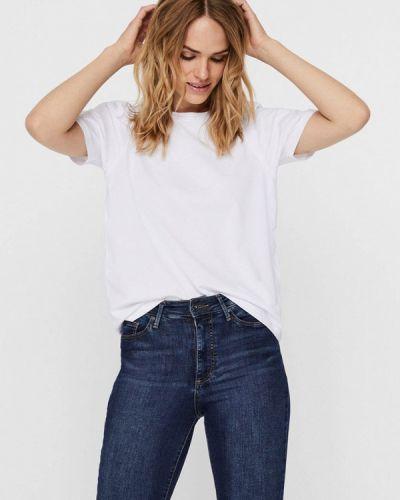 Белая футболка с короткими рукавами Noisy May