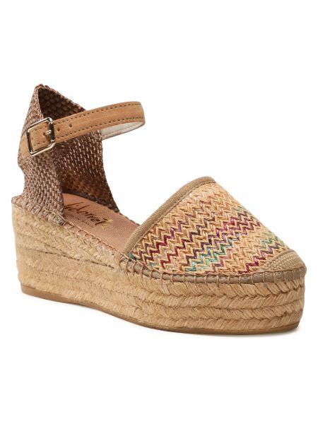 Brązowe sandały espadryle Vidorreta