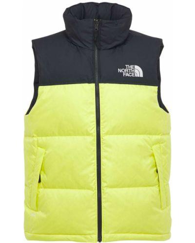 Зеленая пуховая жилетка с капюшоном The North Face