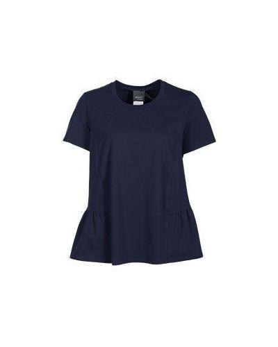 Хлопковая футболка - синяя Persona By Marina Rinaldi