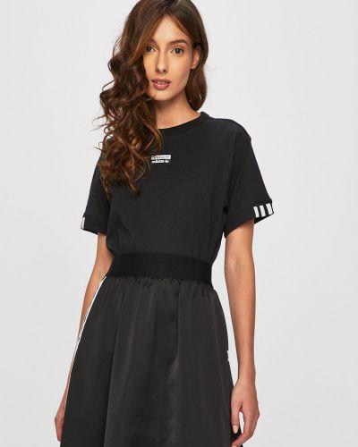 Футболка черная эластичный Adidas Originals