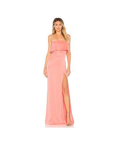 Вечернее платье розовый с декольте Lovers + Friends