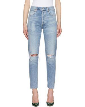 Укороченные джинсы рваные классические Citizens Of Humanity