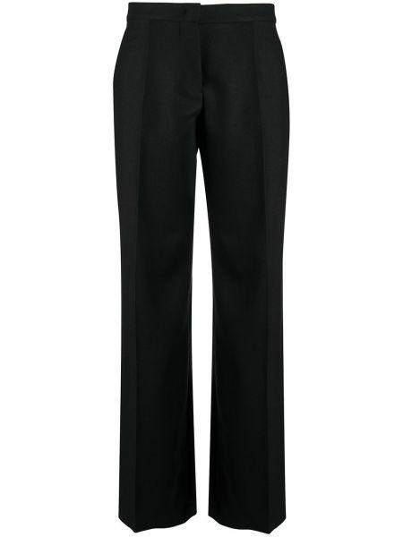 Свободные шерстяные черные брюки Giambattista Valli