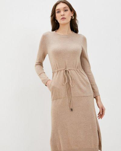 Прямое бежевое платье Savage
