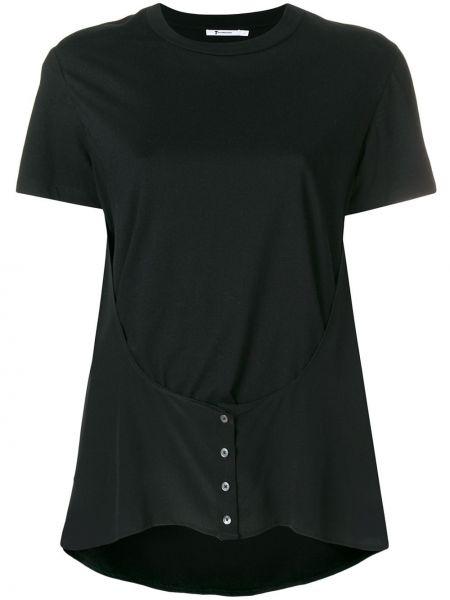 Шелковая футболка - черная T By Alexander Wang