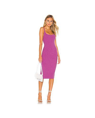 Платье миди шелковое фиолетовый Privacy Please