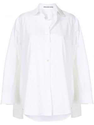 Biała koszula bawełniana z długimi rękawami Alexander Wang