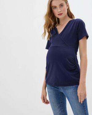 Блузка с коротким рукавом для беременных синяя Dorothy Perkins Maternity