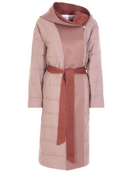 Стеганое пальто - бежевое Agnona