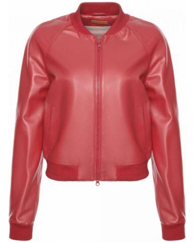 Красная кожаная куртка Ballin