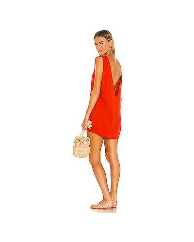 Красное платье из вискозы с подкладкой Indah