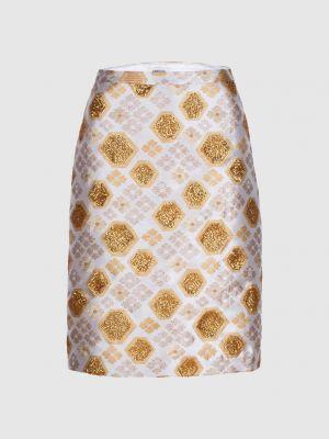 Бежевая юбка мини Manoush