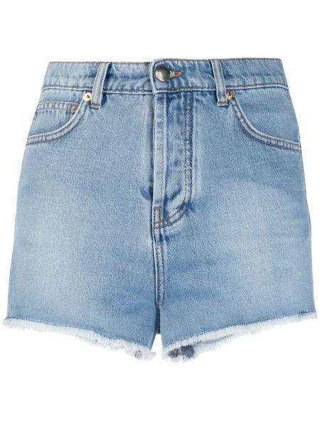 Джинсовые шорты с карманами с бахромой на пуговицах Alexandre Vauthier