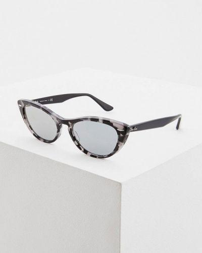 Солнцезащитные очки кошачий глаз серые Ray-ban