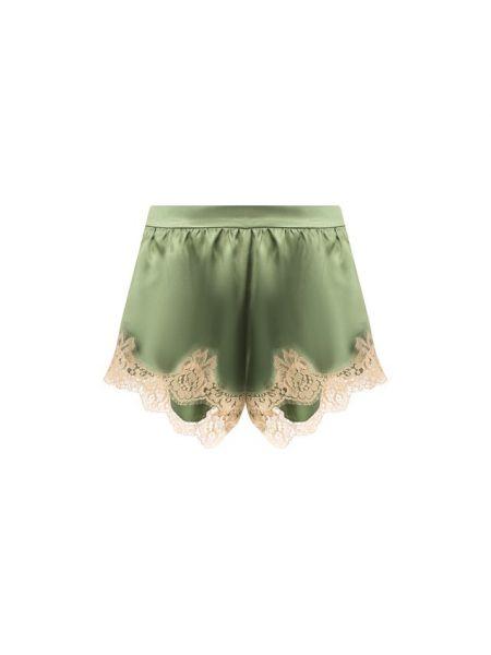 Шелковые песочные шорты прозрачные Dolce & Gabbana