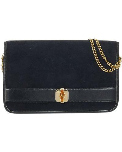 Czarna torba na ramię skórzana Dior Vintage