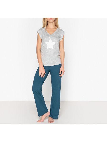 Пижама с брюками с короткими рукавами пижамный La Redoute Collections