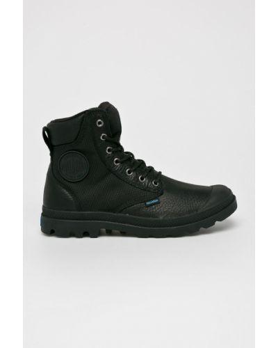 Кожаные ботинки на шнуровке высокие Palladium