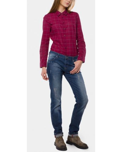 Прямые синие джинсы Mr520