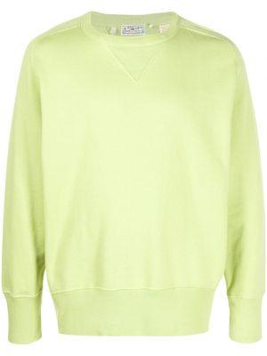 Зеленый хлопковый свитер свободного кроя в рубчик Levi's Vintage Clothing