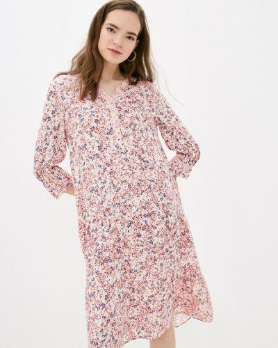 Прямое розовое платье А-силуэта S.oliver