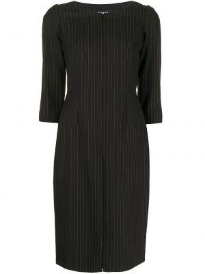 Приталенное платье миди - черное Paule Ka