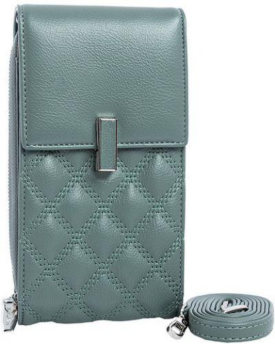 Кожаная сумка - зеленый Saralyn