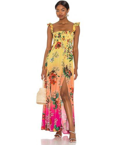 Платье с подкладкой - желтое Agua Bendita