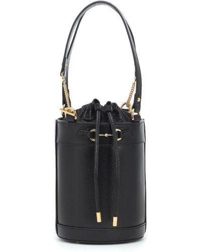 Czarny mini torebka z prawdziwej skóry Gucci