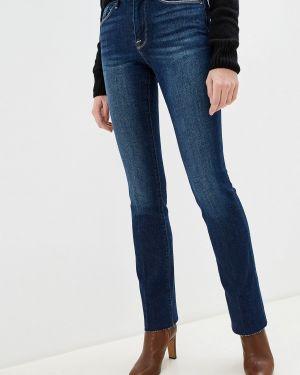 Широкие джинсы расклешенные синие Frame