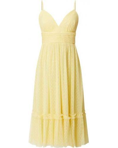 Żółta sukienka koktajlowa rozkloszowana Jake*s Cocktail