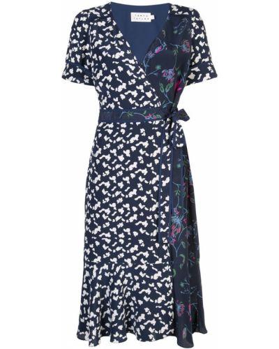 Платье мини миди с запахом Tanya Taylor
