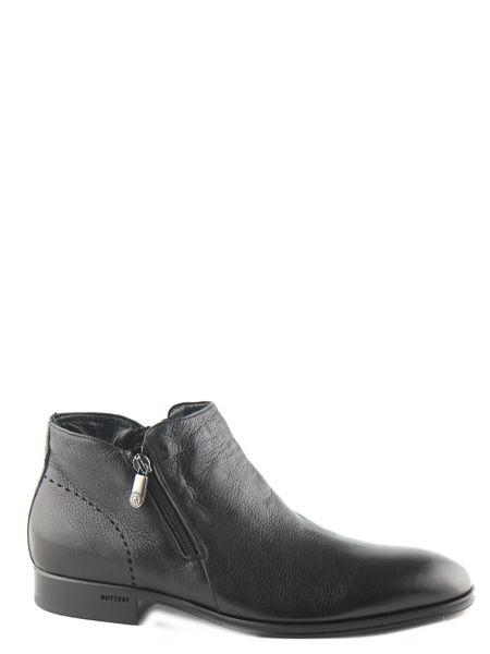 Черные кожаные полусапожки Gianfranco Butteri