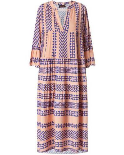 Sukienka rozkloszowana - pomarańczowa Miss Goodlife