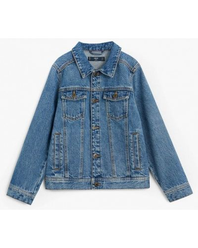 Облегченная синяя джинсовая куртка Mango Kids