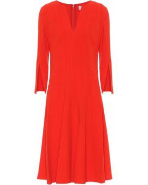 Платье миди в рубчик модерн Oscar De La Renta
