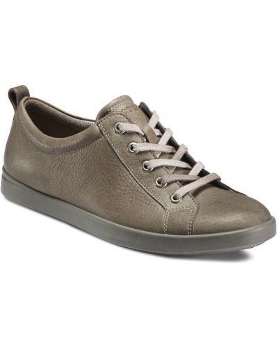 Кеды коричневый на каблуке Ecco