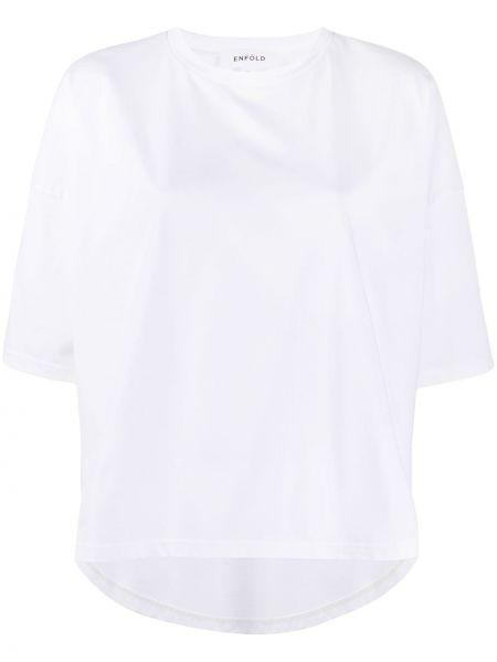 Koszula z krótkim rękawem biała bezpłatne cięcie Enfold