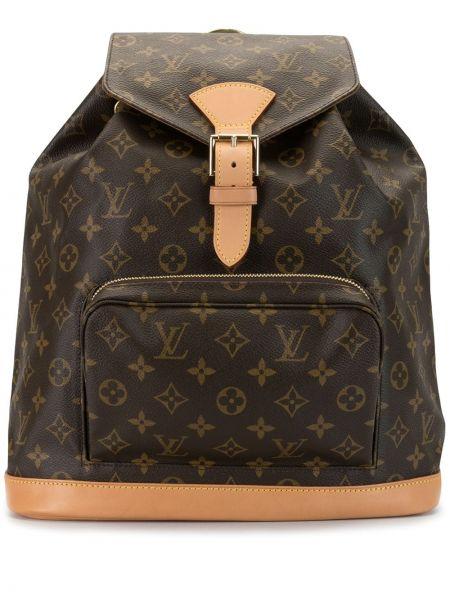 Skórzany plecak brązowy Louis Vuitton