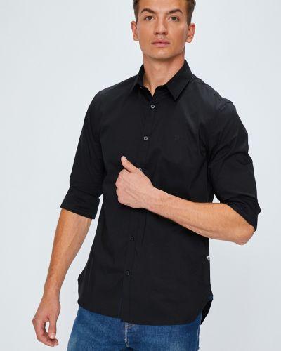 Рубашка с длинным рукавом однотонная хлопковая Guess Jeans