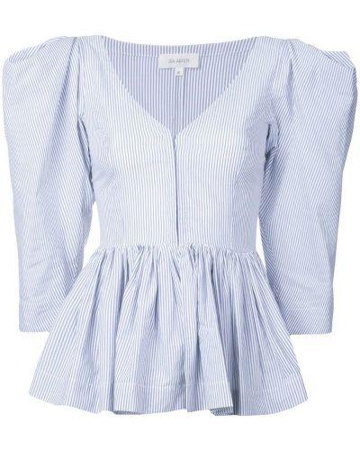 Блузка с баской - синяя Isa Arfen
