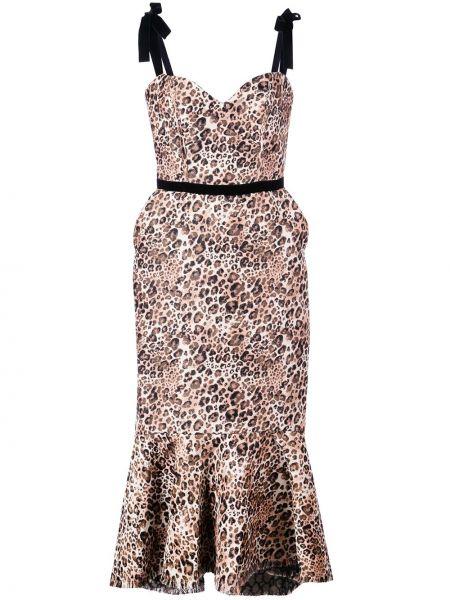 Платье миди леопардовое на молнии Johanna Ortiz