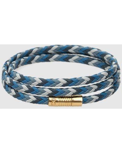 Синий кожаный браслет Dolce&gabbana