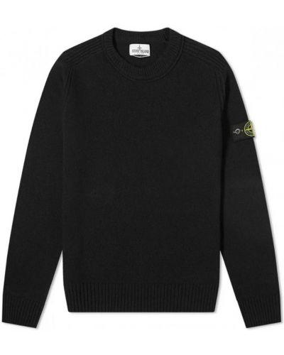 Czarny sweter wełniany Stone Island