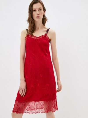 Платье-комбинация - красное Twinset Milano