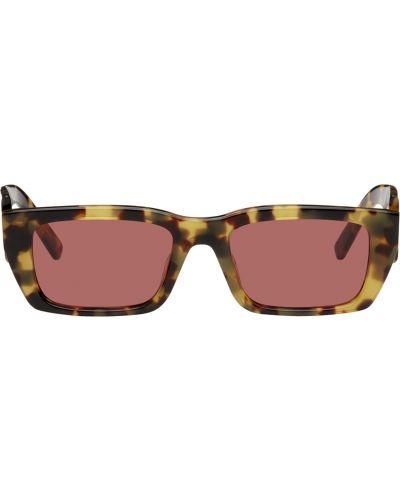 Fioletowe złote okulary Palm Angels
